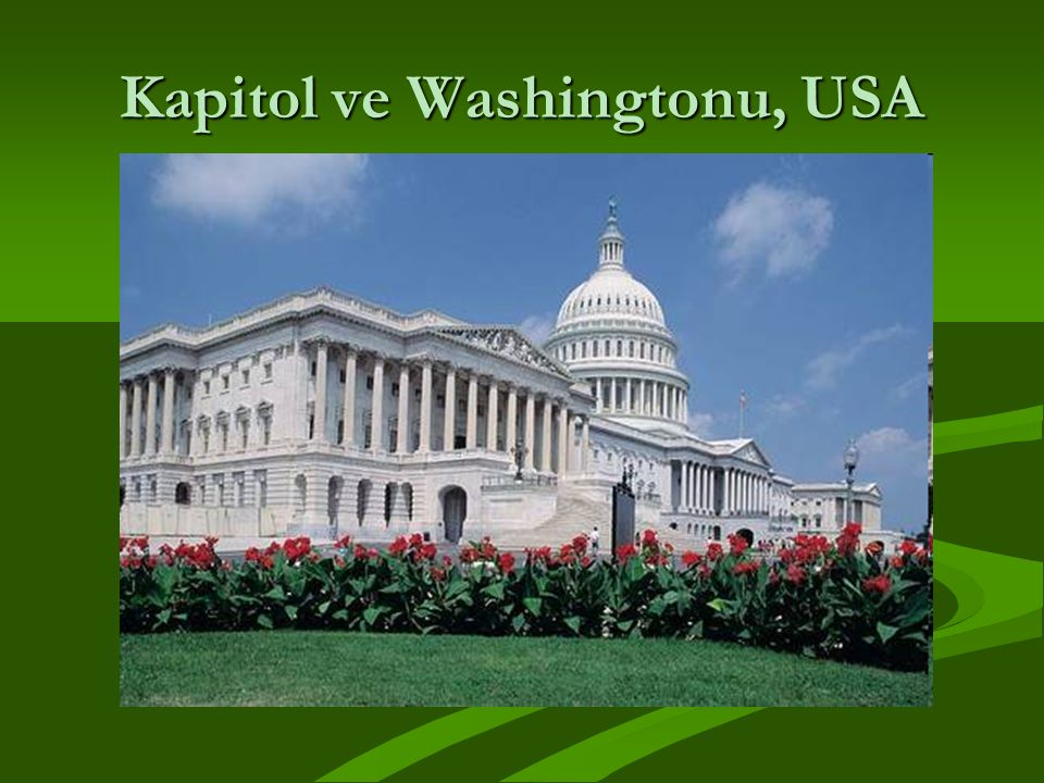 Kapitol ve Washingtonu, USA