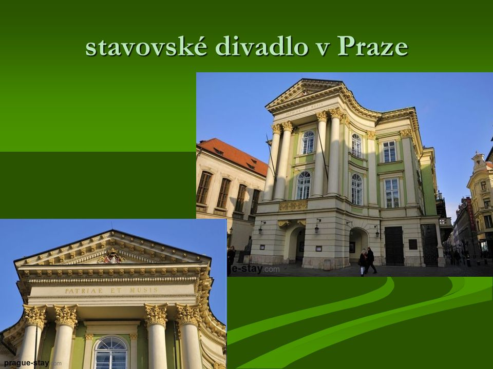 stavovské divadlo v Praze