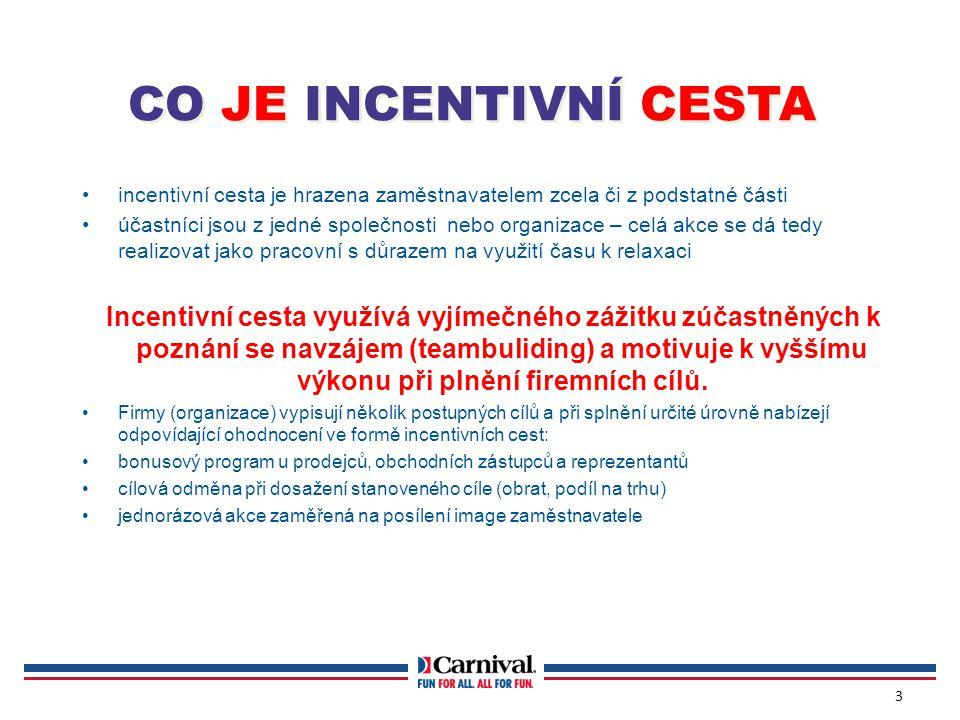 CO JE INCENTIVNÍ CESTA incentivní cesta je hrazena zaměstnavatelem zcela či z podstatné části.