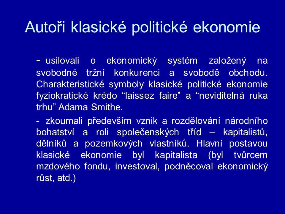 Autoři klasické politické ekonomie
