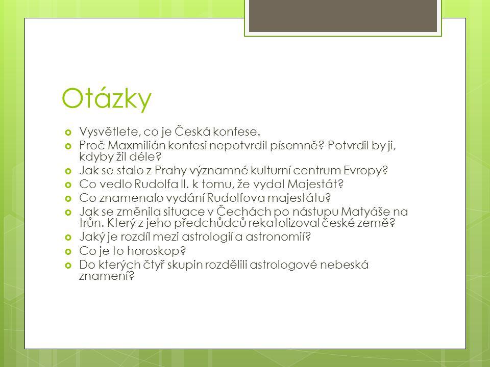 Otázky Vysvětlete, co je Česká konfese.