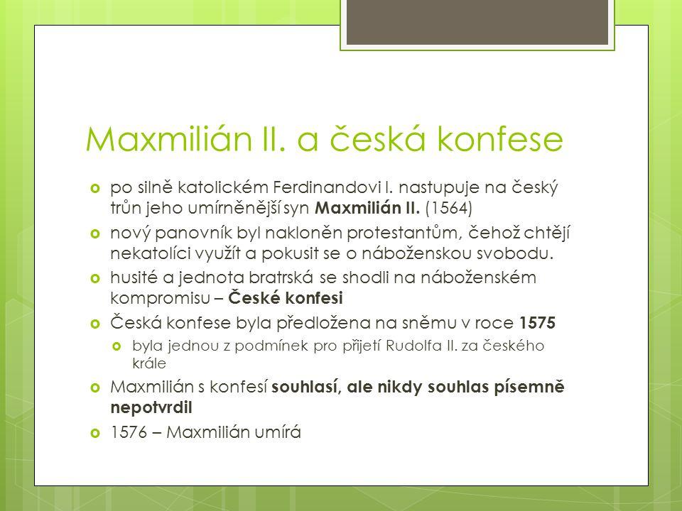 Maxmilián II. a česká konfese