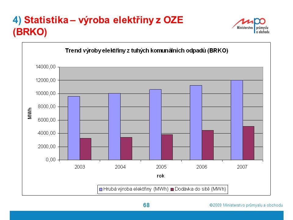 4) Statistika – výroba elektřiny z OZE (BRKO)