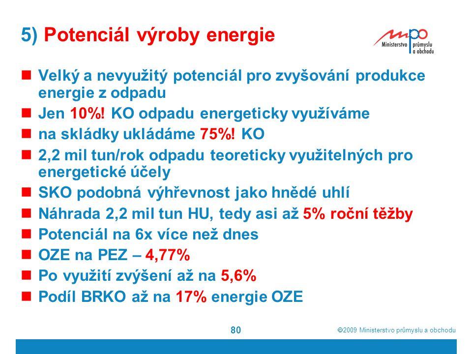5) Potenciál výroby energie