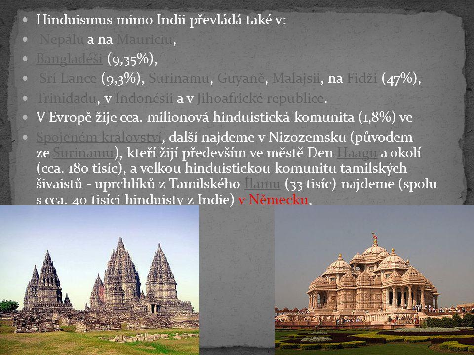 Hinduismus mimo Indii převládá také v: