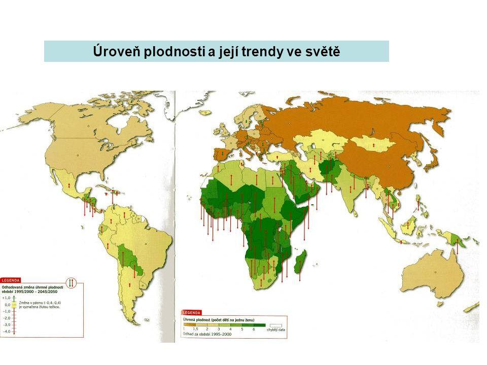 Úroveň plodnosti a její trendy ve světě