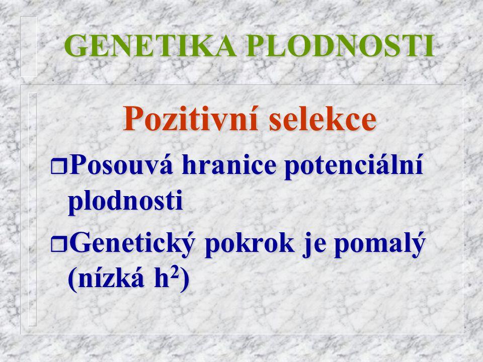 Pozitivní selekce GENETIKA PLODNOSTI