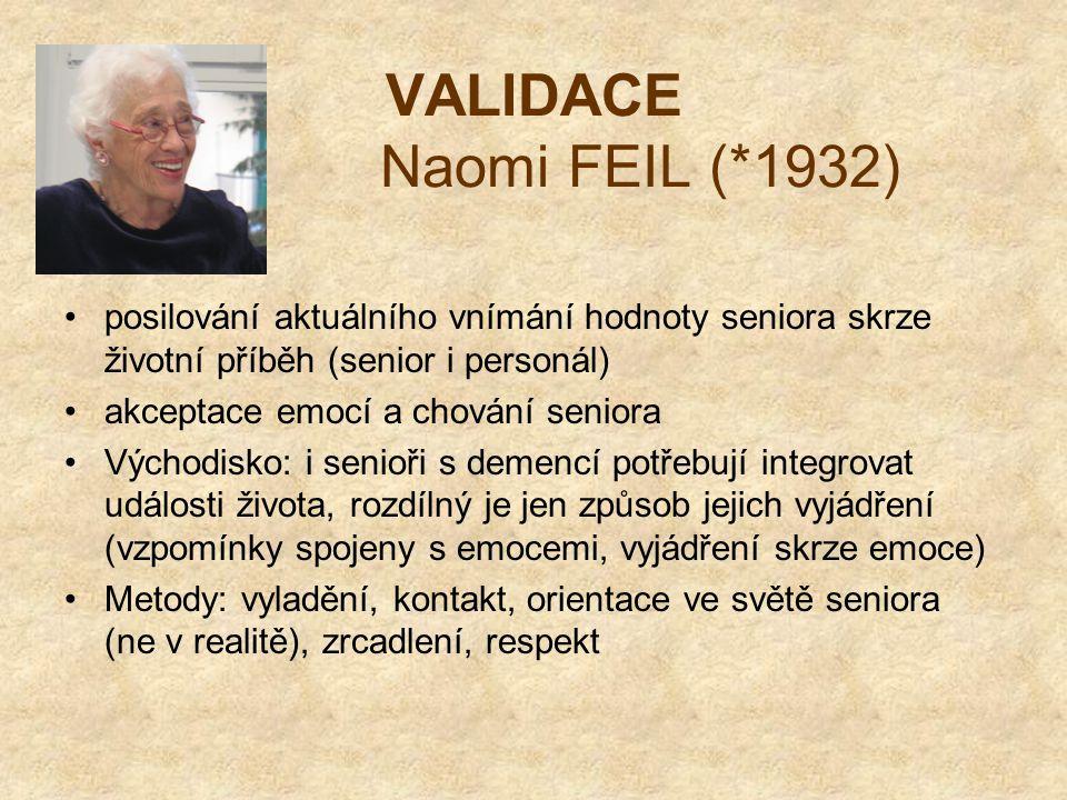 VALIDACE Naomi FEIL (*1932)