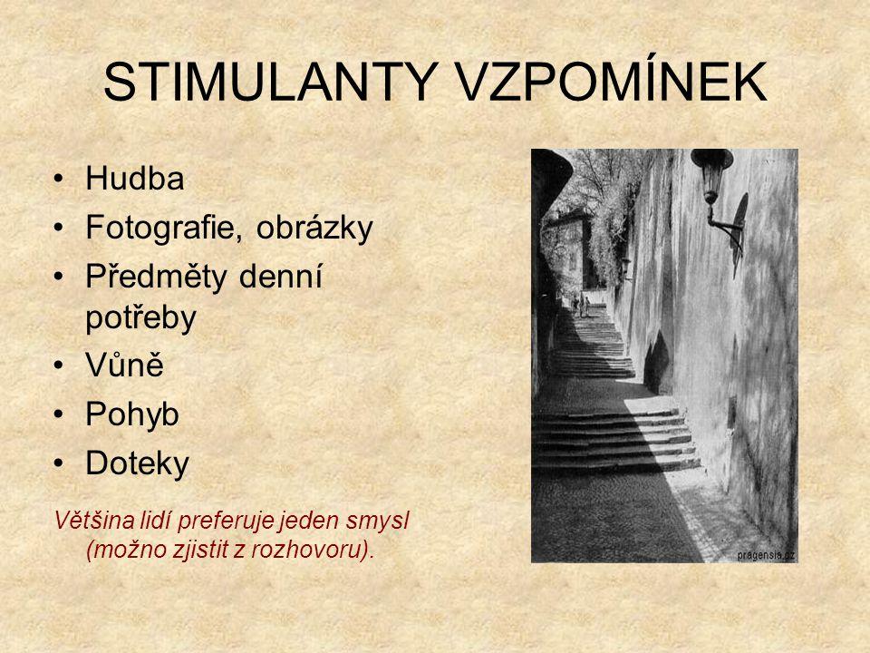 STIMULANTY VZPOMÍNEK Hudba Fotografie, obrázky Předměty denní potřeby