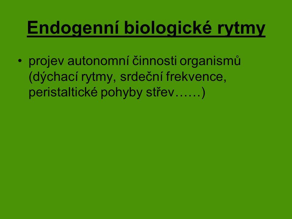 Endogenní biologické rytmy