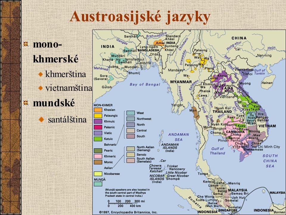 Austroasijské jazyky mono-khmerské mundské santálština khmerština