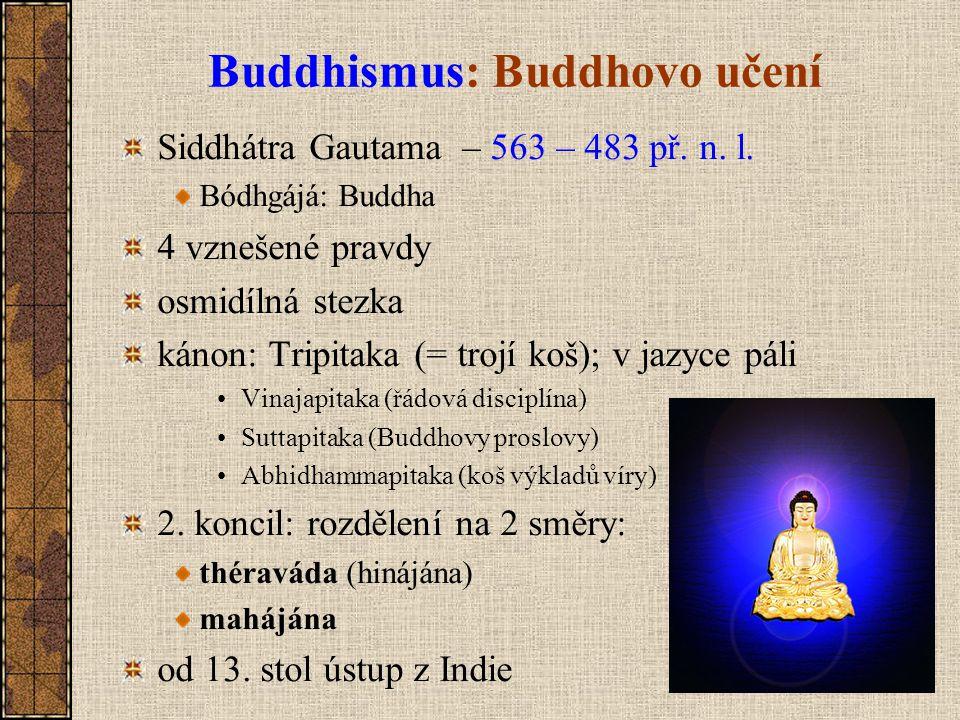 Buddhismus: Buddhovo učení