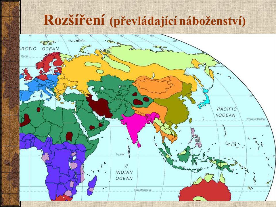 Rozšíření (převládající náboženství)