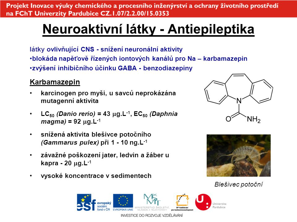 Neuroaktivní látky - Antiepileptika
