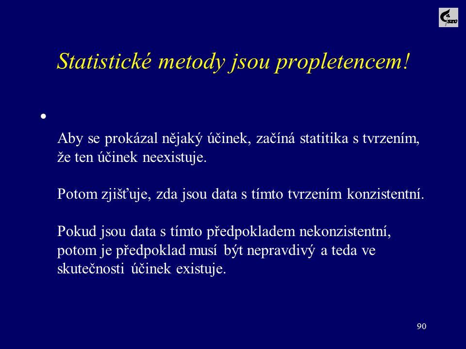 Statistické metody jsou propletencem!