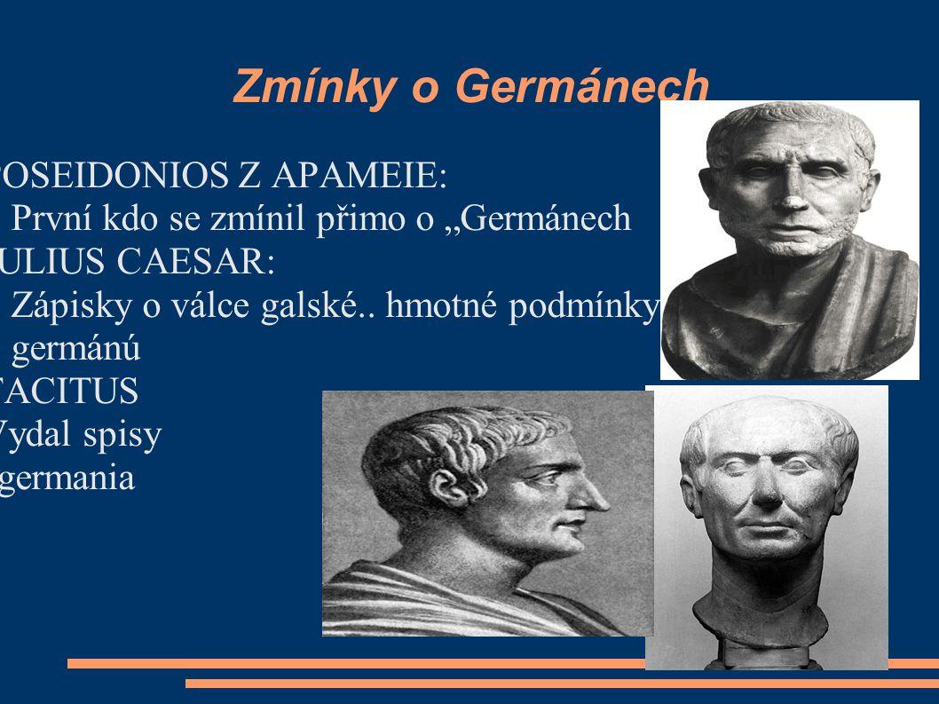 Zmínky o Germánech POSEIDONIOS Z APAMEIE: