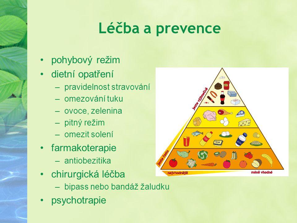 Léčba a prevence pohybový režim dietní opatření farmakoterapie