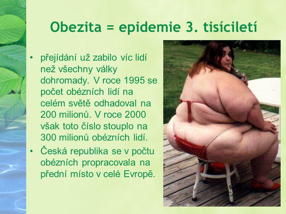 Obezita = epidemie 3. tisíciletí