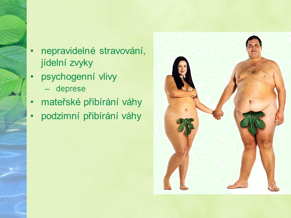 nepravidelné stravování, jídelní zvyky psychogenní vlivy