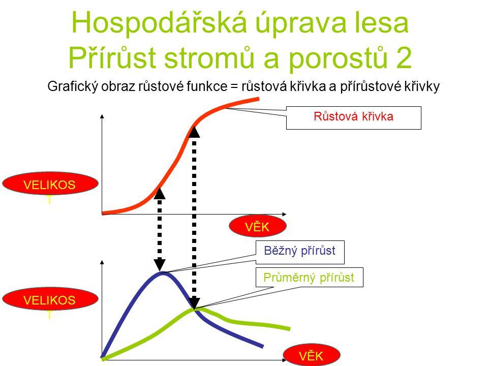 Hospodářská úprava lesa Přírůst stromů a porostů 2