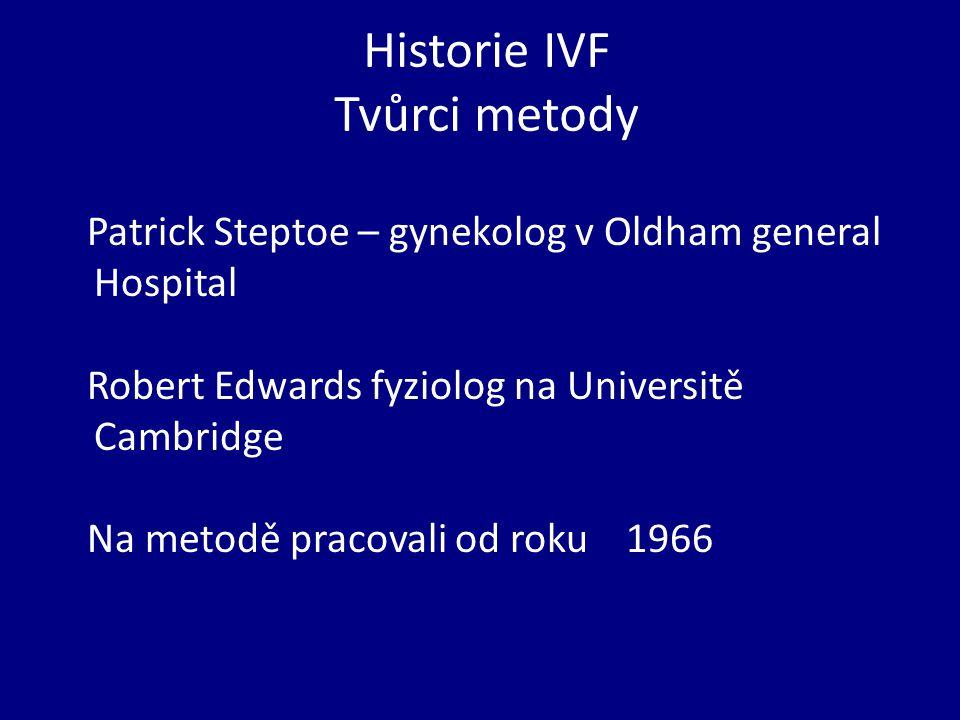 Historie IVF Tvůrci metody