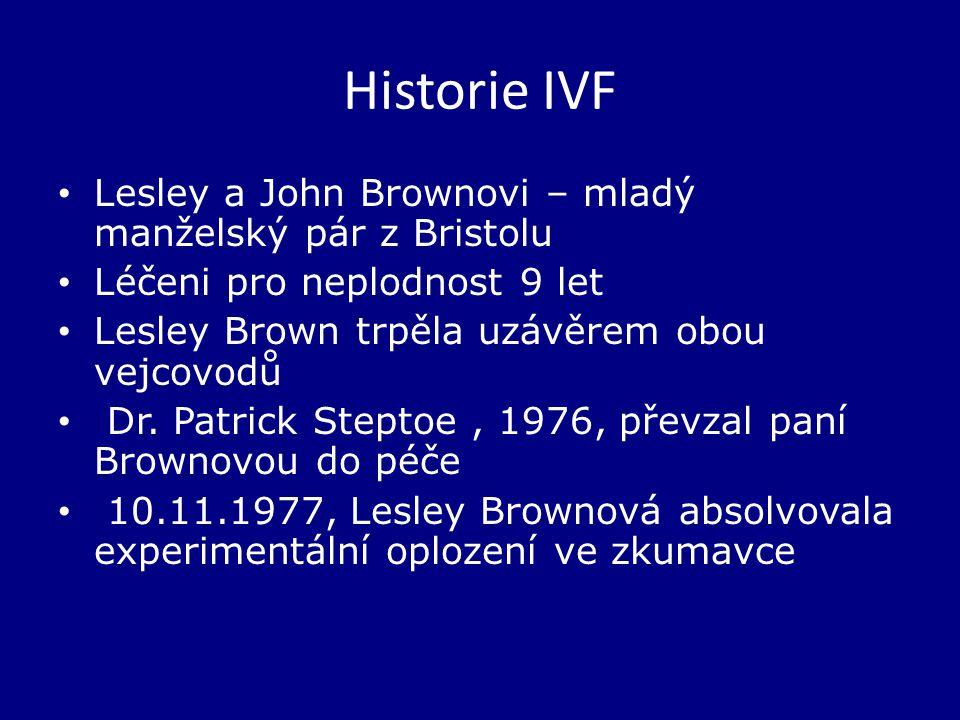 Historie IVF Lesley a John Brownovi – mladý manželský pár z Bristolu