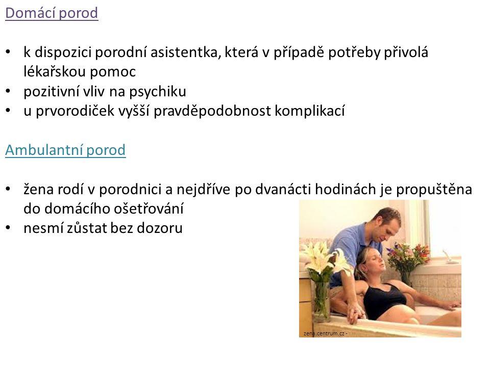 pozitivní vliv na psychiku