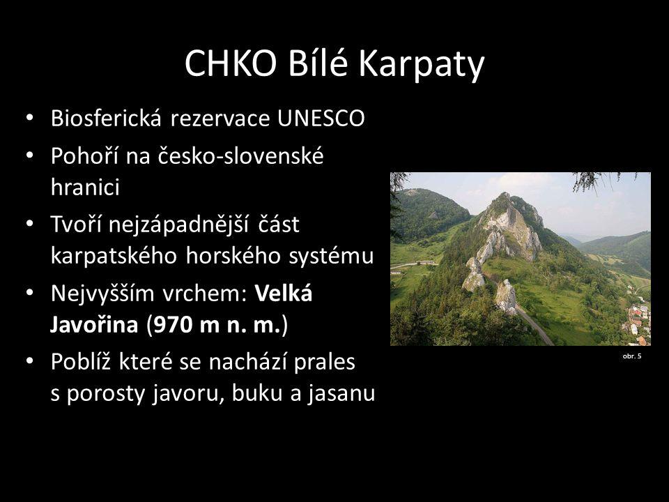 CHKO Bílé Karpaty Biosferická rezervace UNESCO