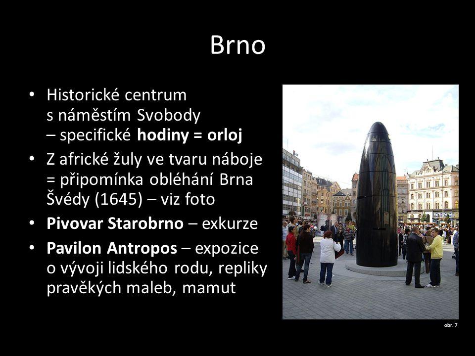 Brno Historické centrum s náměstím Svobody – specifické hodiny = orloj