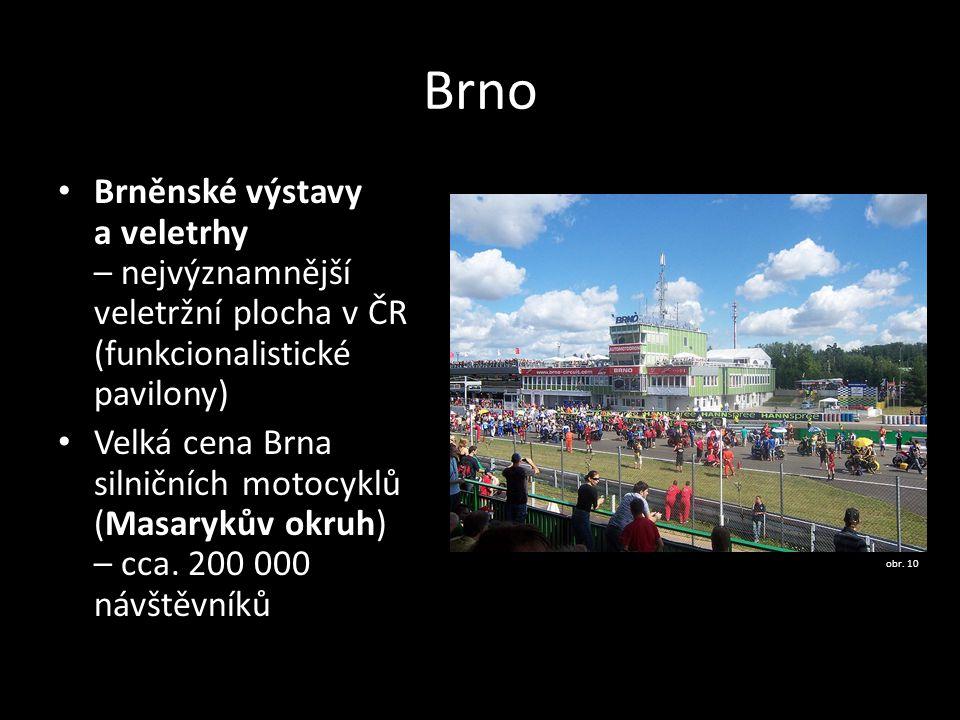 Brno Brněnské výstavy a veletrhy – nejvýznamnější veletržní plocha v ČR (funkcionalistické pavilony)
