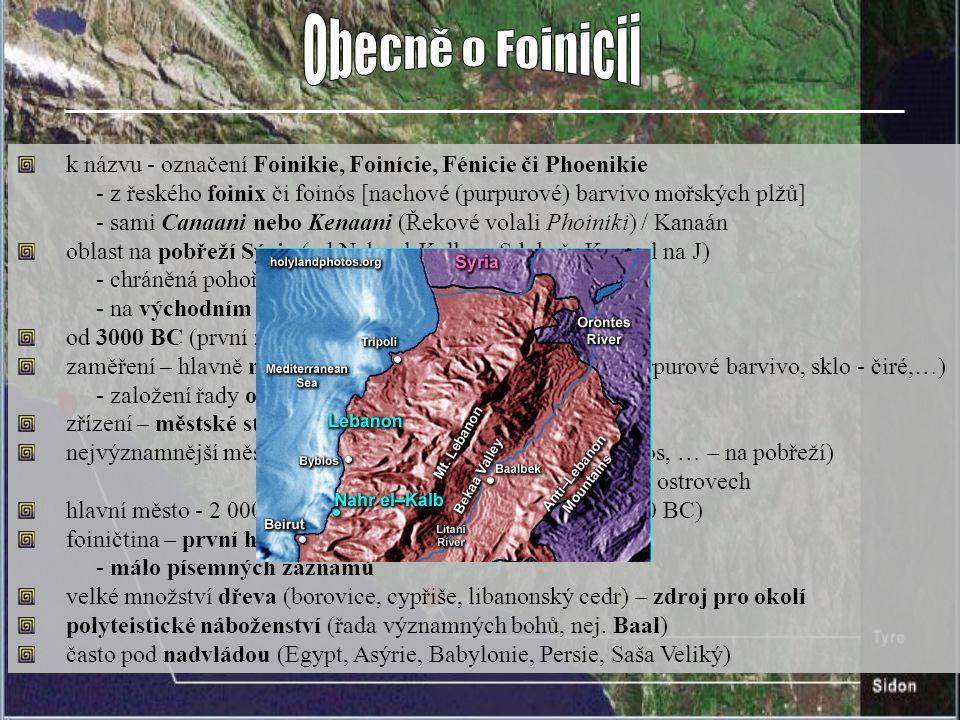 k názvu - označení Foinikie, Foinície, Fénicie či Phoenikie