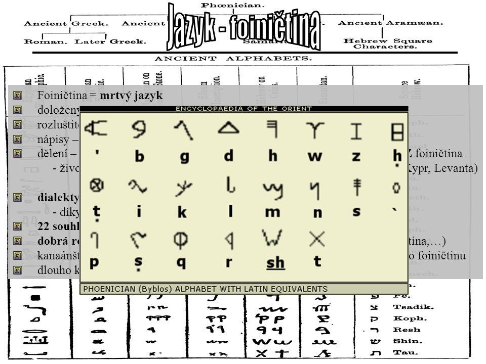 Foiničtina = mrtvý jazyk