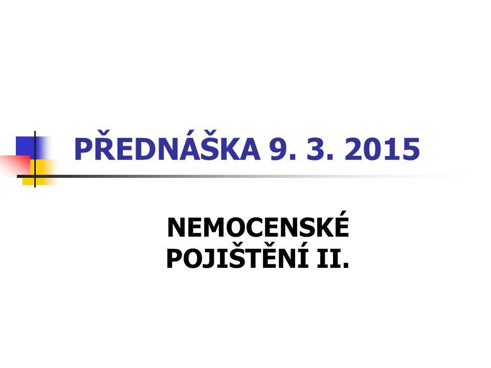 NEMOCENSKÉ POJIŠTĚNÍ II.