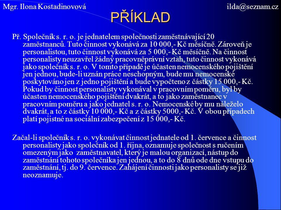 PŘÍKLAD Mgr. Ilona Kostadinovová ilda@seznam.cz
