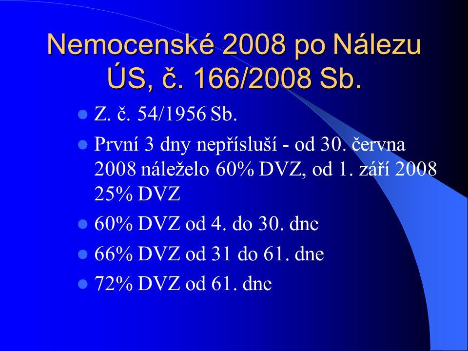 Nemocenské 2008 po Nálezu ÚS, č. 166/2008 Sb.