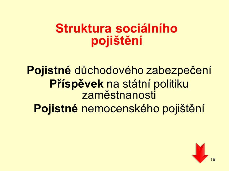 Struktura sociálního pojištění