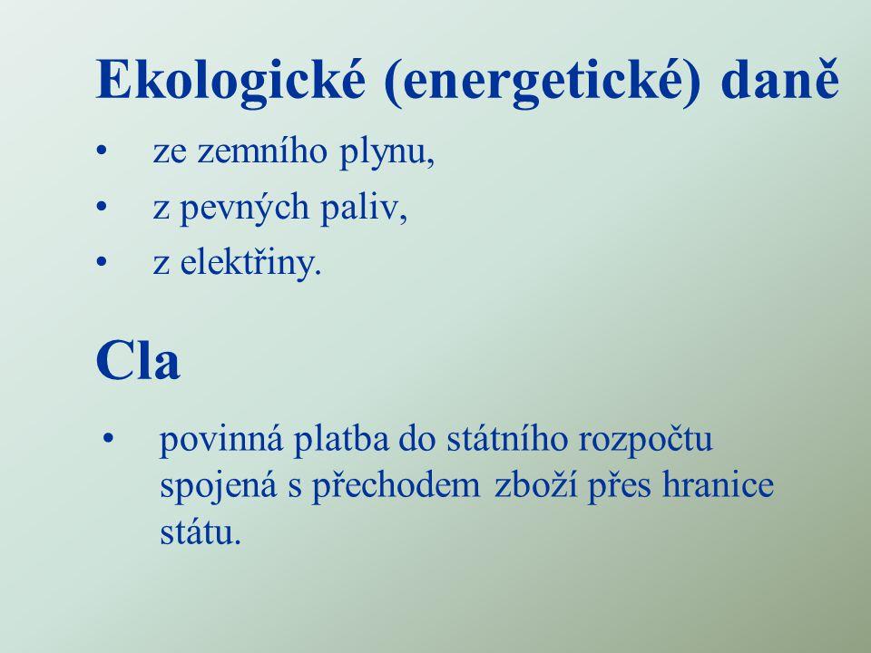 Ekologické (energetické) daně Cla