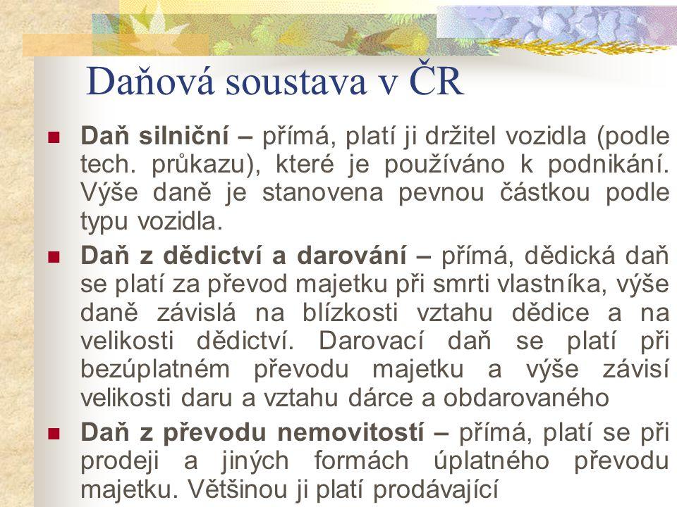Daňová soustava v ČR