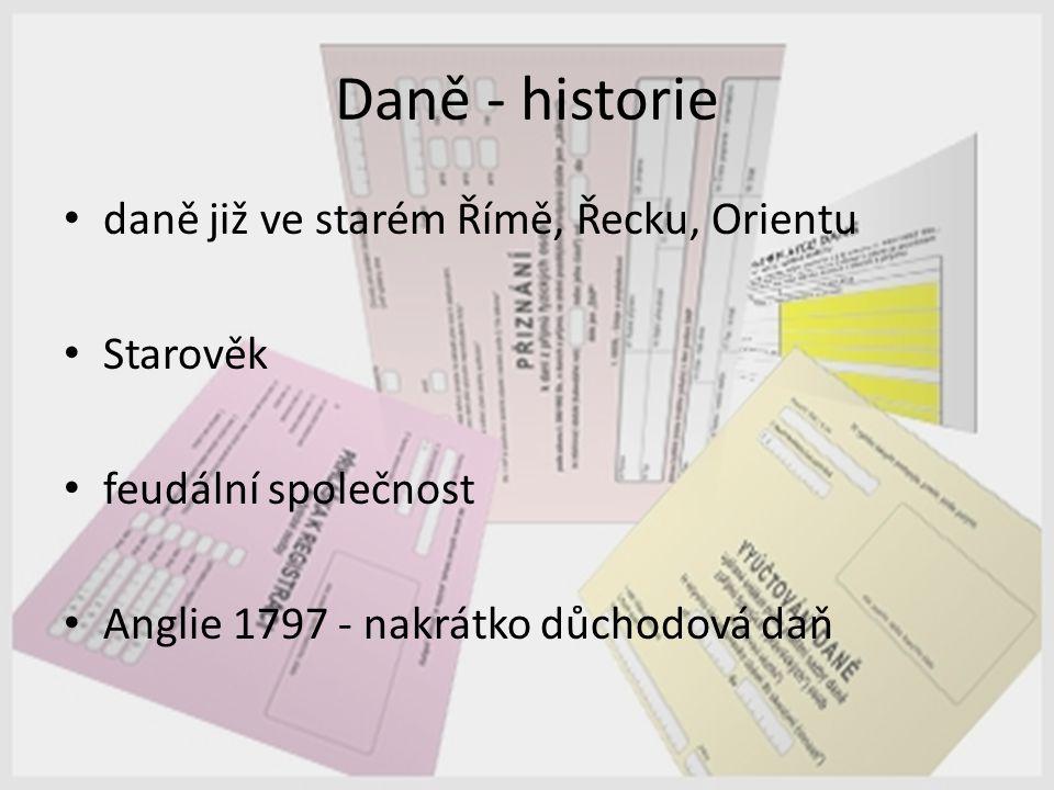Daně - historie daně již ve starém Římě, Řecku, Orientu Starověk