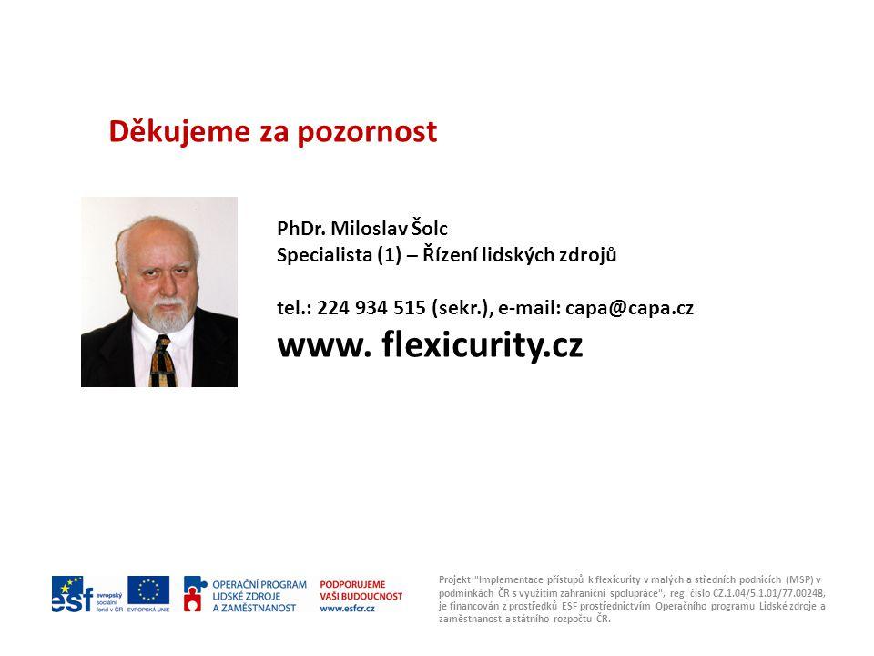 www. flexicurity.cz Děkujeme za pozornost PhDr. Miloslav Šolc Foto