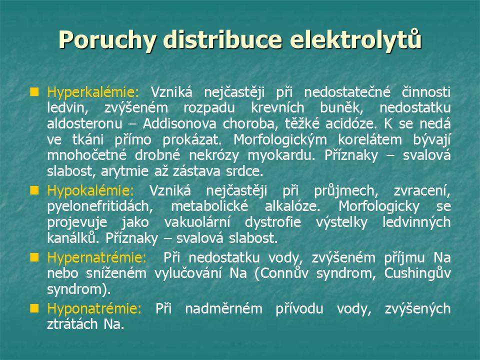 Poruchy distribuce elektrolytů