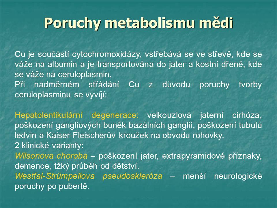 Poruchy metabolismu mědi