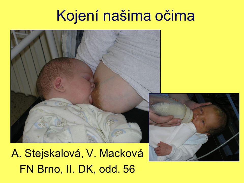 A. Stejskalová, V. Macková FN Brno, II. DK, odd. 56