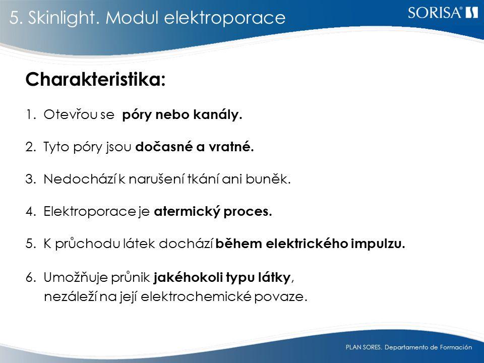 Charakteristika: 5. Skinlight. Modul elektroporace