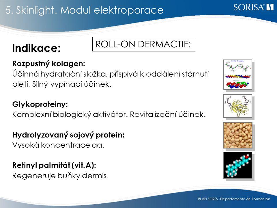 Indikace: 5. Skinlight. Modul elektroporace ROLL-ON DERMACTIF: