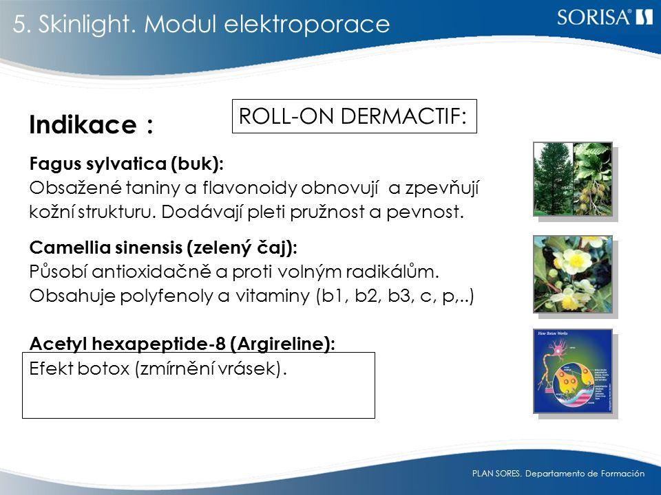 Indikace : 5. Skinlight. Modul elektroporace ROLL-ON DERMACTIF: