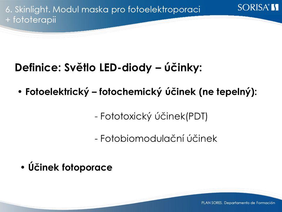 Definice: Světlo LED-diody – účinky:
