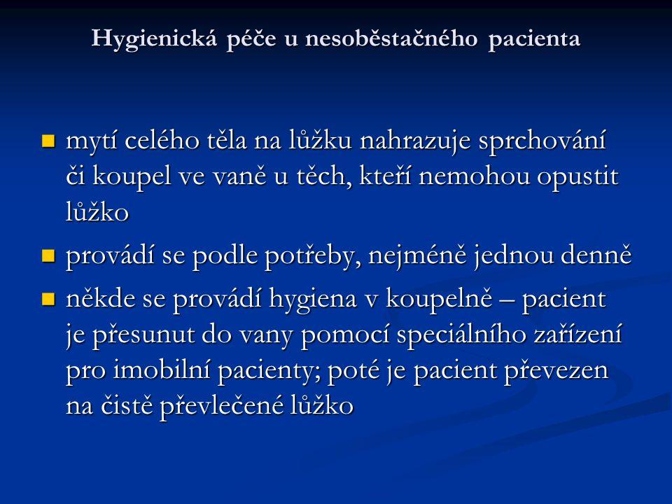 Hygienická péče u nesoběstačného pacienta