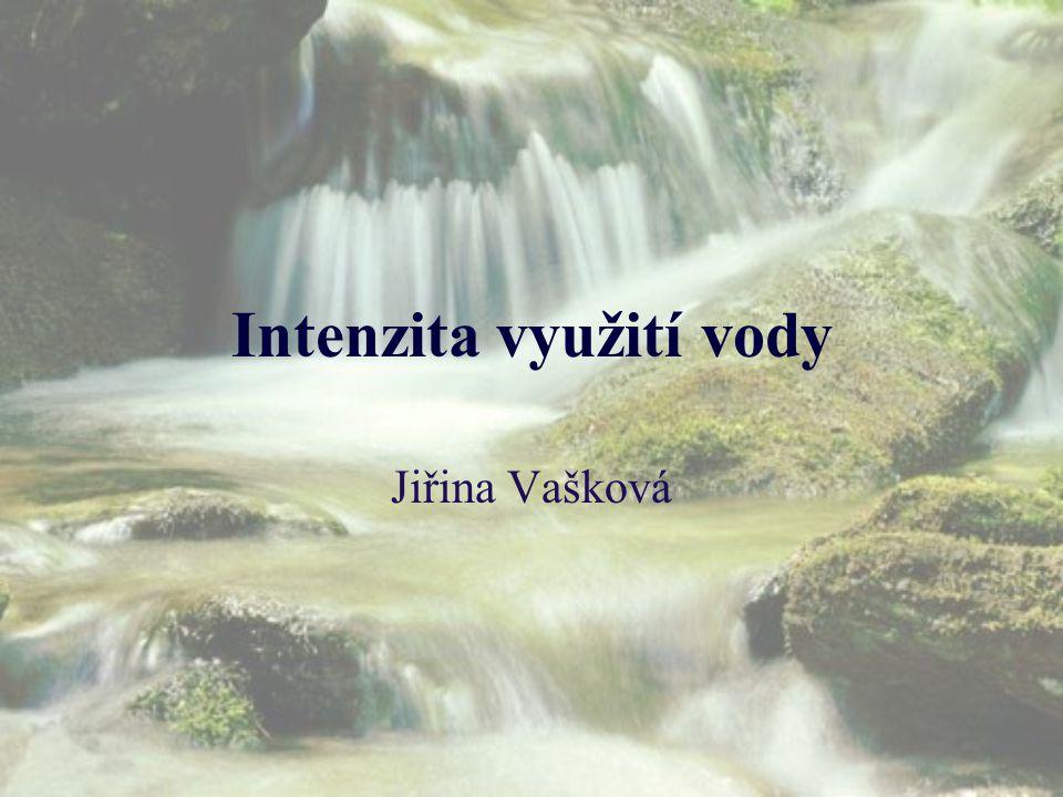 Intenzita využití vody