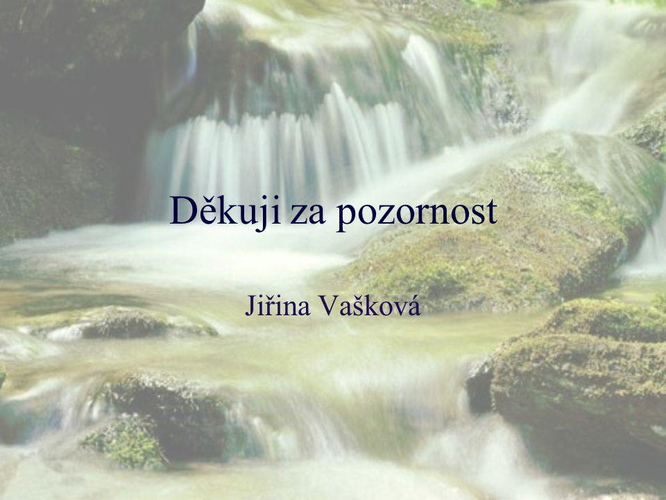 Děkuji za pozornost Jiřina Vašková